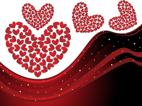valentine background hearts layout sparkling dynamic red decor