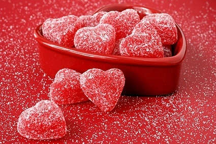 red heartshaped candy picture