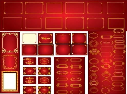 decorative frame templates collection elegant symmetric decor