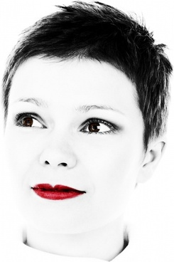 red lipstick portrait
