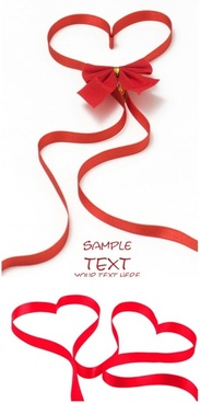 red love ribbon highdefinition picture 2p