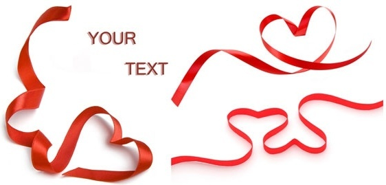 red love ribbon highdefinition picture 3p