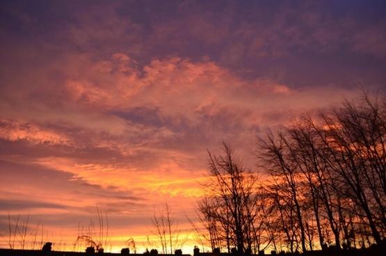 red morning sky