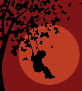 red night vector graphic