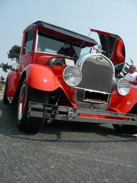 red old timer oldsmobile