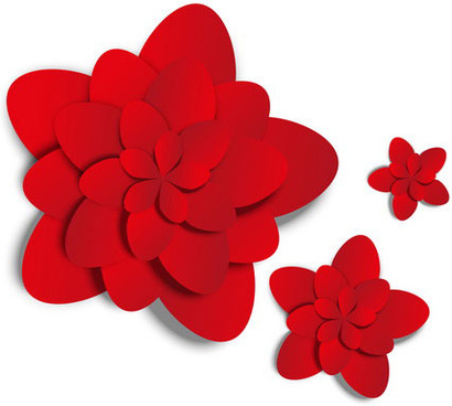 red paper flower vector