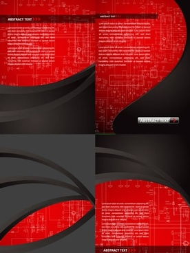 technology backgrounds modern black red decor diagram illustration