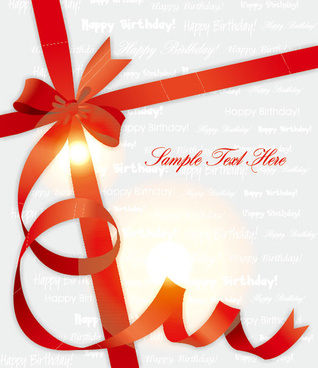red ribbons gift cover background vector