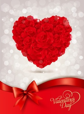 red rose for valentine day vector illustration