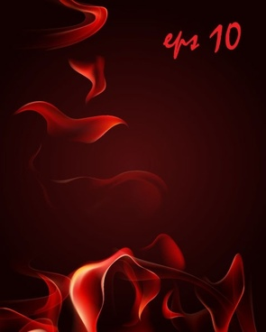 red smoke flame vector