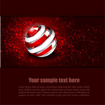 red sphere background