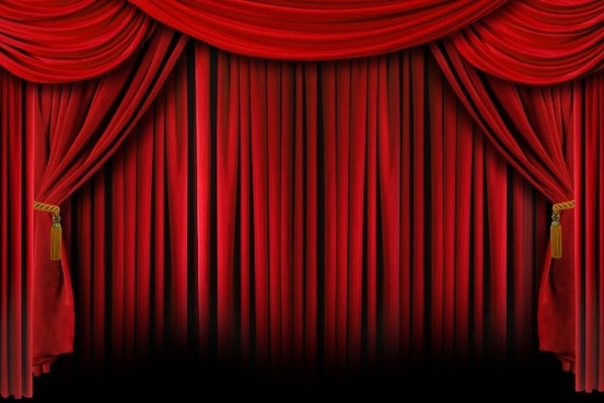 red stage curtain hd picture