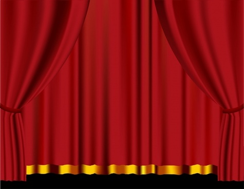 theater background red curtain ornament 3d design