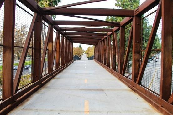 red steel bridge tunnel