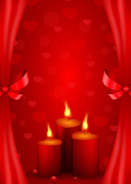 red style for valentine day design vector