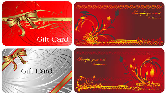 red style gift card vector
