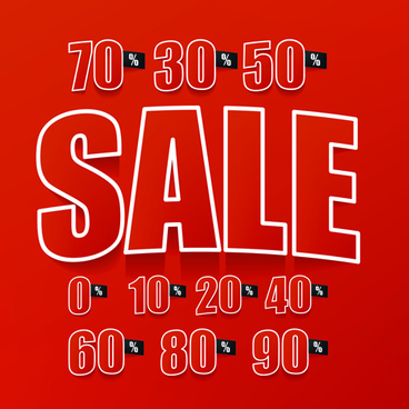 red style price sale background vector