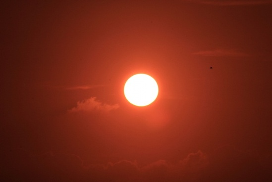 red sun at key west florida