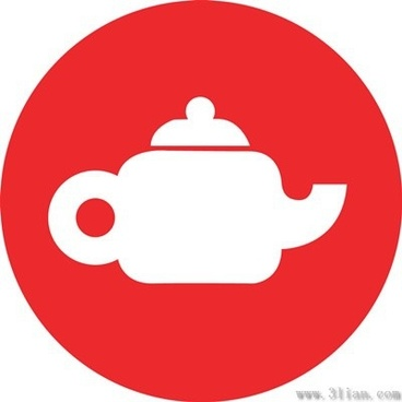 red teapot icon vector