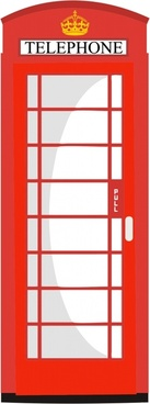 red telephone box vector illustration