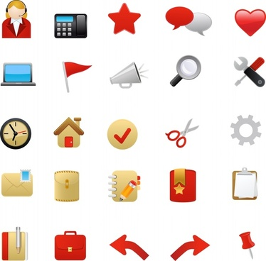 ui icons collection colorful modern symbols sketch
