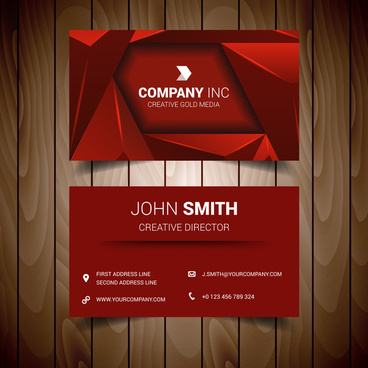 Red white black business card free vector download 36239 free red triangle elegant business card friedricerecipe Gallery