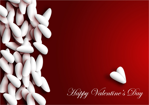 red valentine day background vector