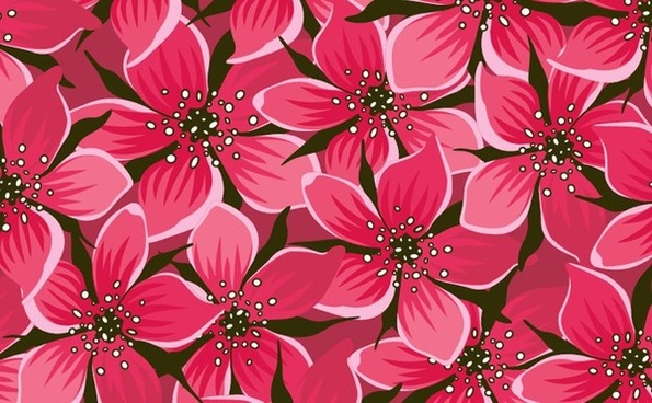 red flowers background seamless repeating ornament