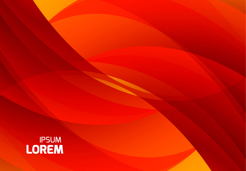 Red Black Abstract Curves Vector Background Free Vector