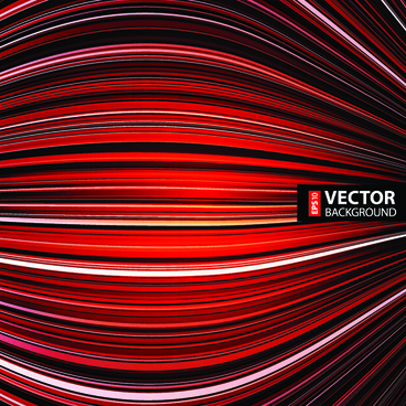 red wave abstract vector background