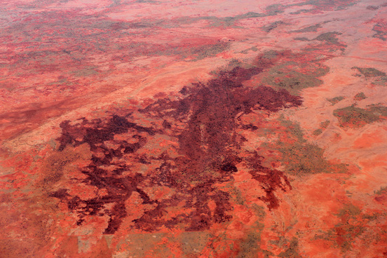 red western australia from the air