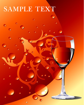 red wine and water vector graphics