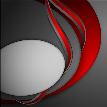 red with gray layered abstract vector