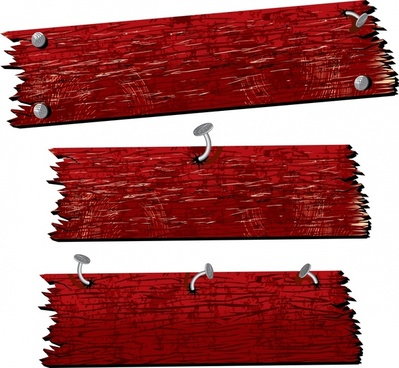 wood plank icons red retro design