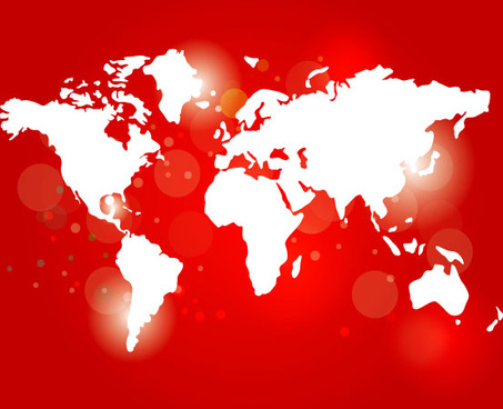 red world card free vector graphic