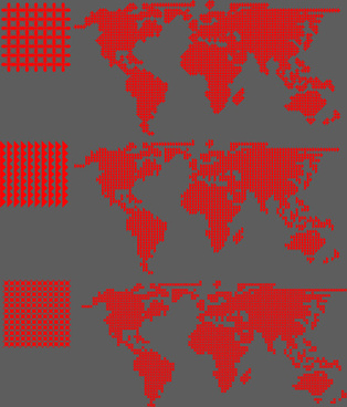 red world maps pattern vector