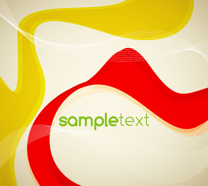red yellow abstract vector