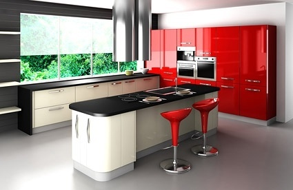 redtoned fashion kitchen picture