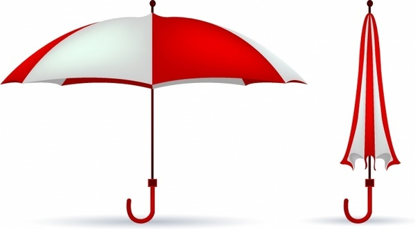 red-white colored umbrella