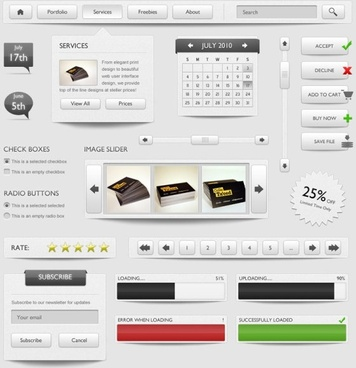 refined and practical web elements 03 psd layered