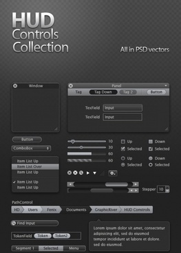 refined and practical web elements 04 psd layered