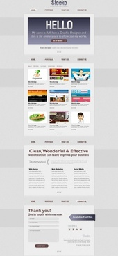 refined and practical web template 12 psd layered
