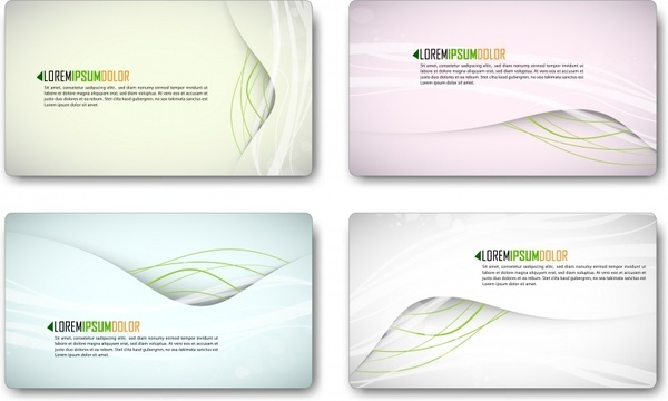 business card template elegant modern curves decor