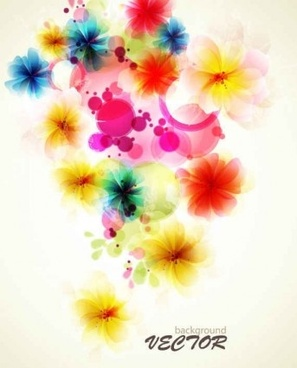 refreshing flowers background art vector
