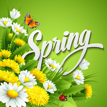 refreshing spring flower backgrounds vector