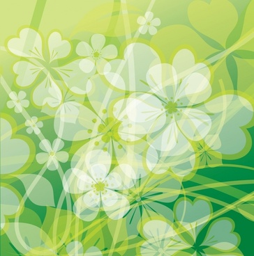 flower background template bright modern blurred decor
