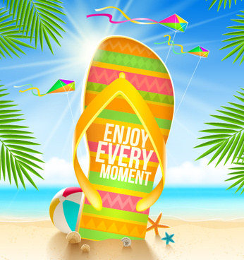 refreshing summer time vector background