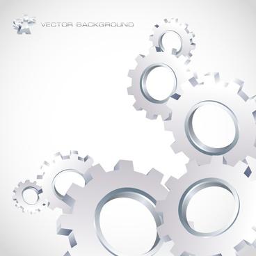 technology background shiny modern 3d gray gears decor