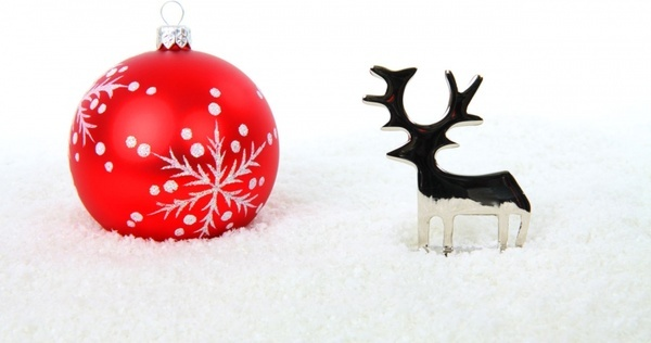 reindeer and christmas ball