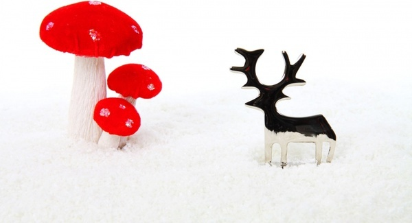reindeer and christmas decoration
